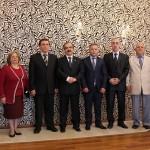 Osman ZOR  ile Yönetim Kurulu üyeleri Vali COŞ'u ziyaret  ettiler